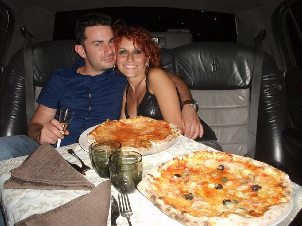 pizza in limousine